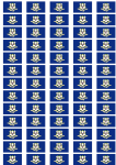 Connecticut Flag Stickers - 65 per sheet